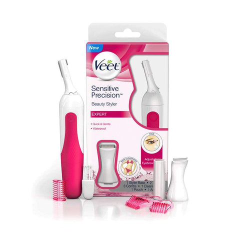Veet Sensitive Precision Electric Hair Trimmer & Shaper for Eyebrows