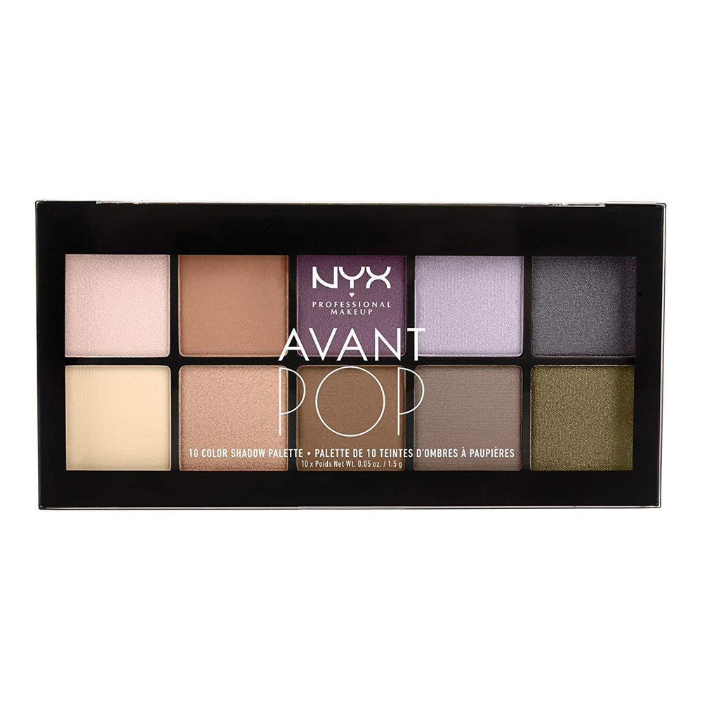 NYX Professional Makeup Avant Pop! Shadow Palette, Nouveau Chic, 0.5 Ounce
