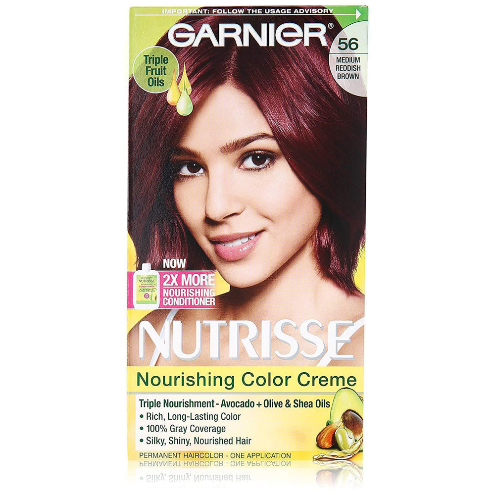 Garnier Nutrisse Nourishing Hair Color Creme, 56 Medium Reddish Brown Sangria