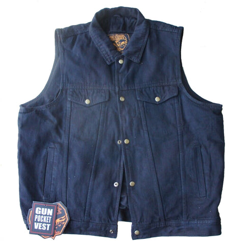 Milwaukee Performance Men's Shirt Collar Denim Vest (Black, 3X-Large)