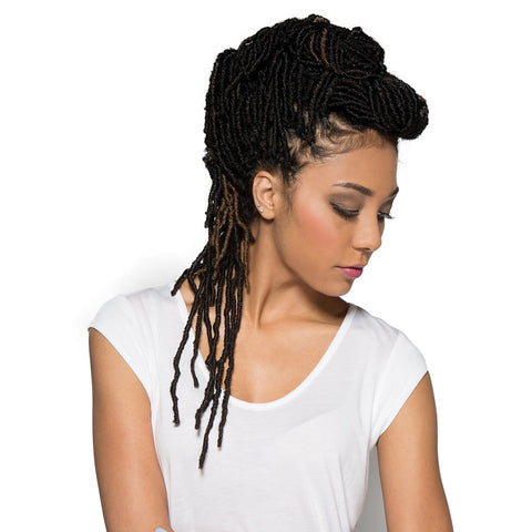 "Bobbi Boss 100% Premium Fiber Hair Nu Locs 18"" BNULC-18 (4 Pack/Color#1B)"