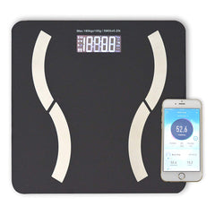 HoooWooo Bluetooth Body Fat Bathroom Scale with Tempered Glass Platform