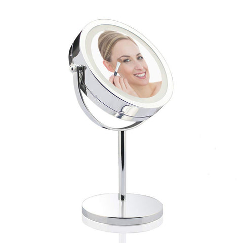 "VivReal D710T Home Magnifying 7"" LED Lighted Make Up Mirror"