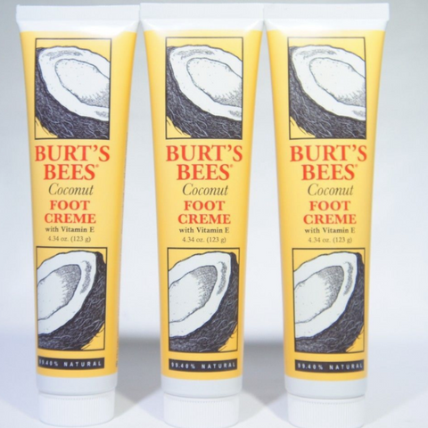 Burts's Bees Coconut Foot Creme 4.34 oz 3 Pack
