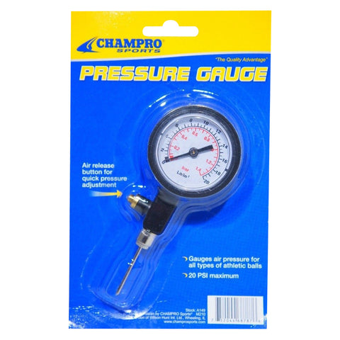 Champro Sports Pressure Gauge With Release Button