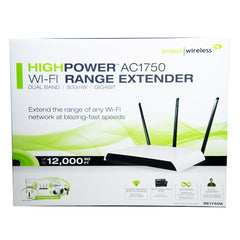 Amped RE1750A Wireless High Power 800mW AC1750 Wi-Fi Range Extender