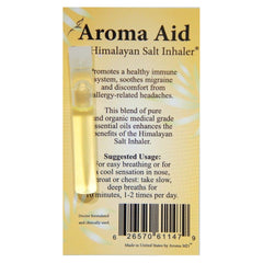 Nature's Artifacts Aroma Aid For Himalayan Salt Inhaler