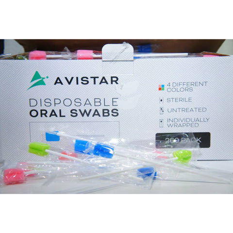 Avistar 260 Disposable Oral Swabs Sterile Untreated & Unflavored Individually Wrap