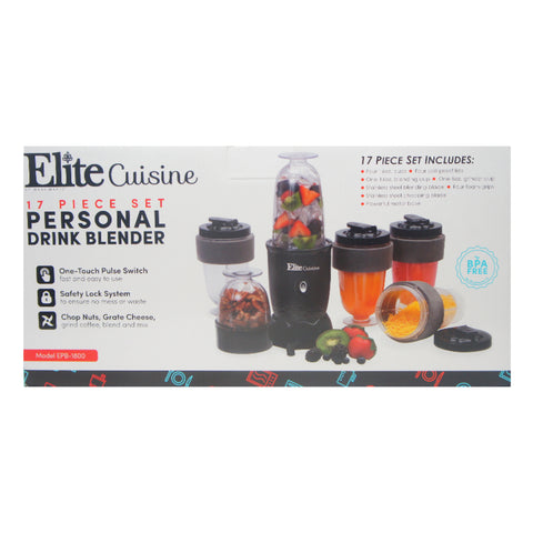Elite Cuisine Maxi Matic USA EPB-1800 17 Piece Personal Blender