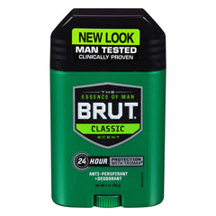 Brut Antiperspirant Solid Oval, Classic, 2 oz (3 PACK), EXP 10/19