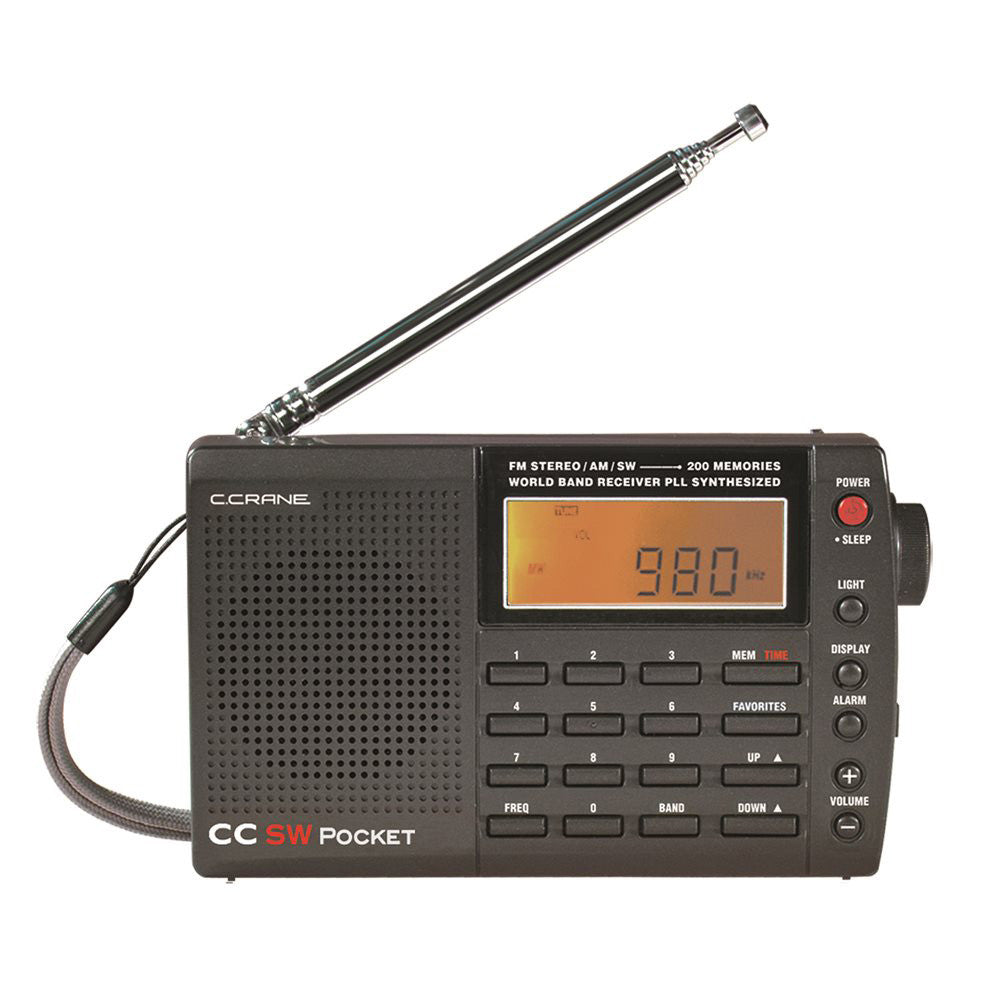 C Crane CC SW Pocket AM/FM Shortwave Pocket & Travel Radio
