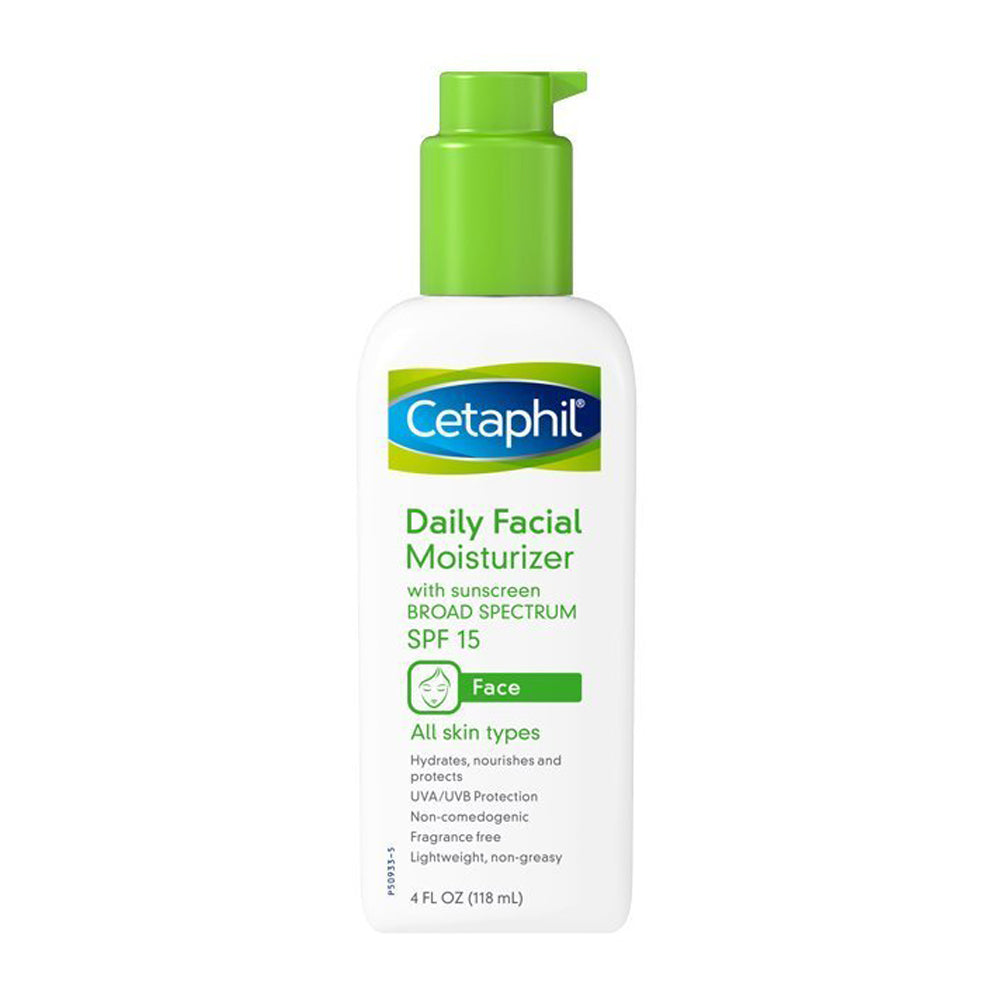Cetaphil Fragrance Free Daily Facial Moisturizer SPF 15, 4-Ounce Bottles