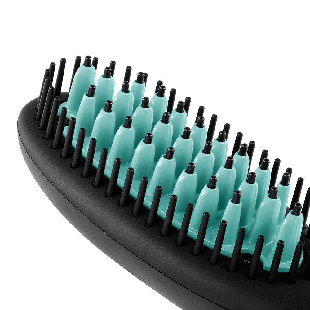 DAFNI go Hair Straightening Ceramic Brush (Green)