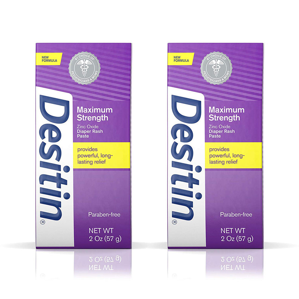 Desitin Baby Diaper Rash Maximum Strength Original Paste, 2 oz (2 PACK)