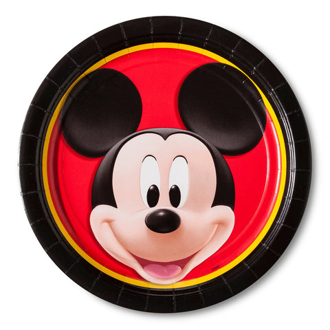 "Disney Mickey Mouse Paper Dinner Plates 9"" 8 Count"