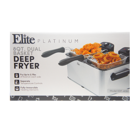 Elite Platinum EDF-4080 Maxi-Matic 8 Quart Deep Fryer, Stainless Steel