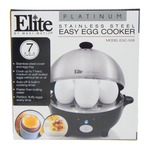 Elite Easy Electric Egg Poacher Omelet 7 Capacity Stainless Steel EGC-508