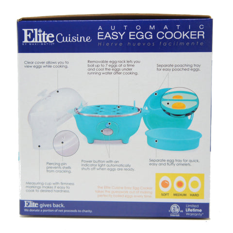 Elite Easy Electric Egg Poacher Omelet Measuring Cup Included 7 Capacity