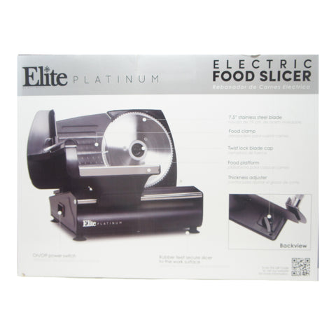 Elite Platinum EMT-625B Ultimate Precision Electric Deli Food Meat Slicer