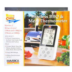 Maverick ET-733 Wireless Food Thermometer Set of Transmitter, Receiver, 2 hybrid probes & 2 grill clips