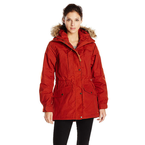 Fjallraven Women's Sarek Winter Jacket Autumn Leaf, Large (Missing Zipper Pull Tab) (Like New)