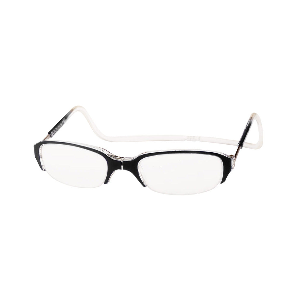 Clic Half Frame Readers, Clear/Black