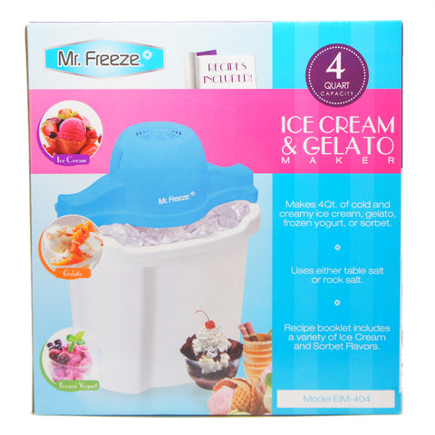 Elite EIM-404 Mr Freeze Electric Ice Cream Maker, 4-Quart, White