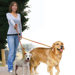 "Pet Parade JB6282 No-Tangle Dual Leash, 52"" Long, Walk Two Dogs at Once"