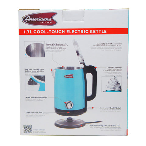 Elite Double Wall Insulated Cool Touch Electric Water Tea Kettle 1.7L