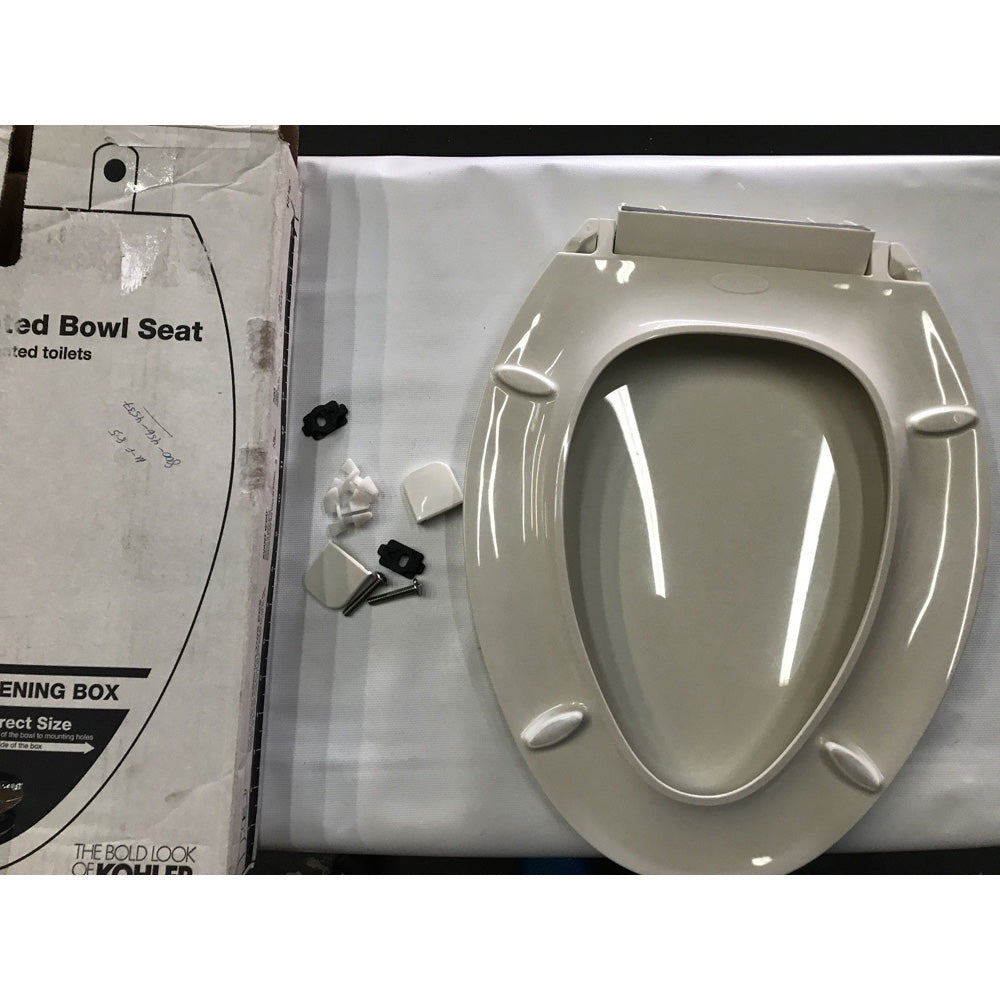 Wondrous Kohler K 4636 96 Cachet Quiet Close With Grip Tight Bumpers Elongated Toilet Seat Biscuit Like New Unemploymentrelief Wooden Chair Designs For Living Room Unemploymentrelieforg