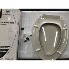 KOHLER K-4636-96 Cachet Quiet-Close with Grip-Tight Bumpers Elongated Toilet Seat, Biscuit (Like New)