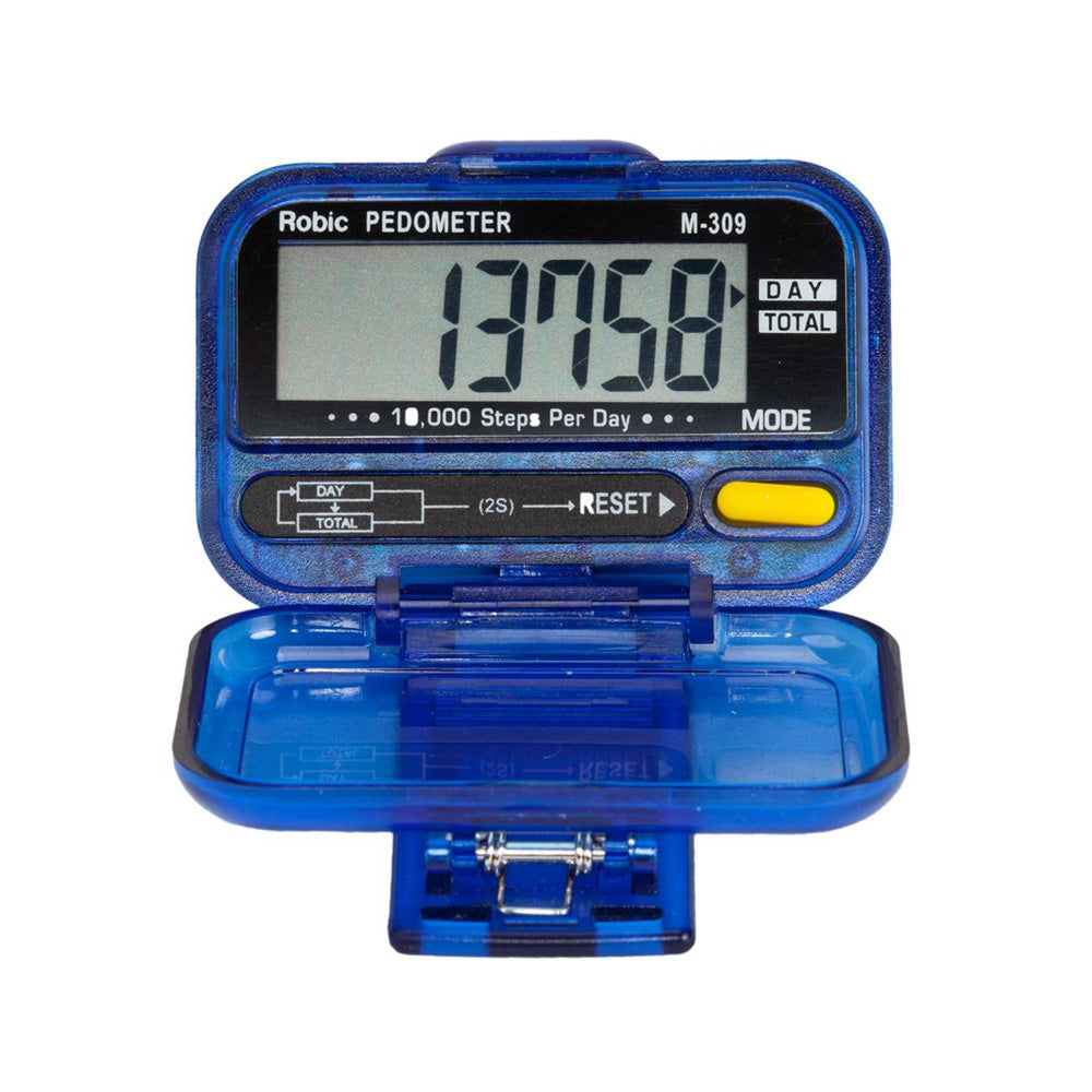 Robic M309 Daily and Total Step-Counting Pedometer Running Walking Timer
