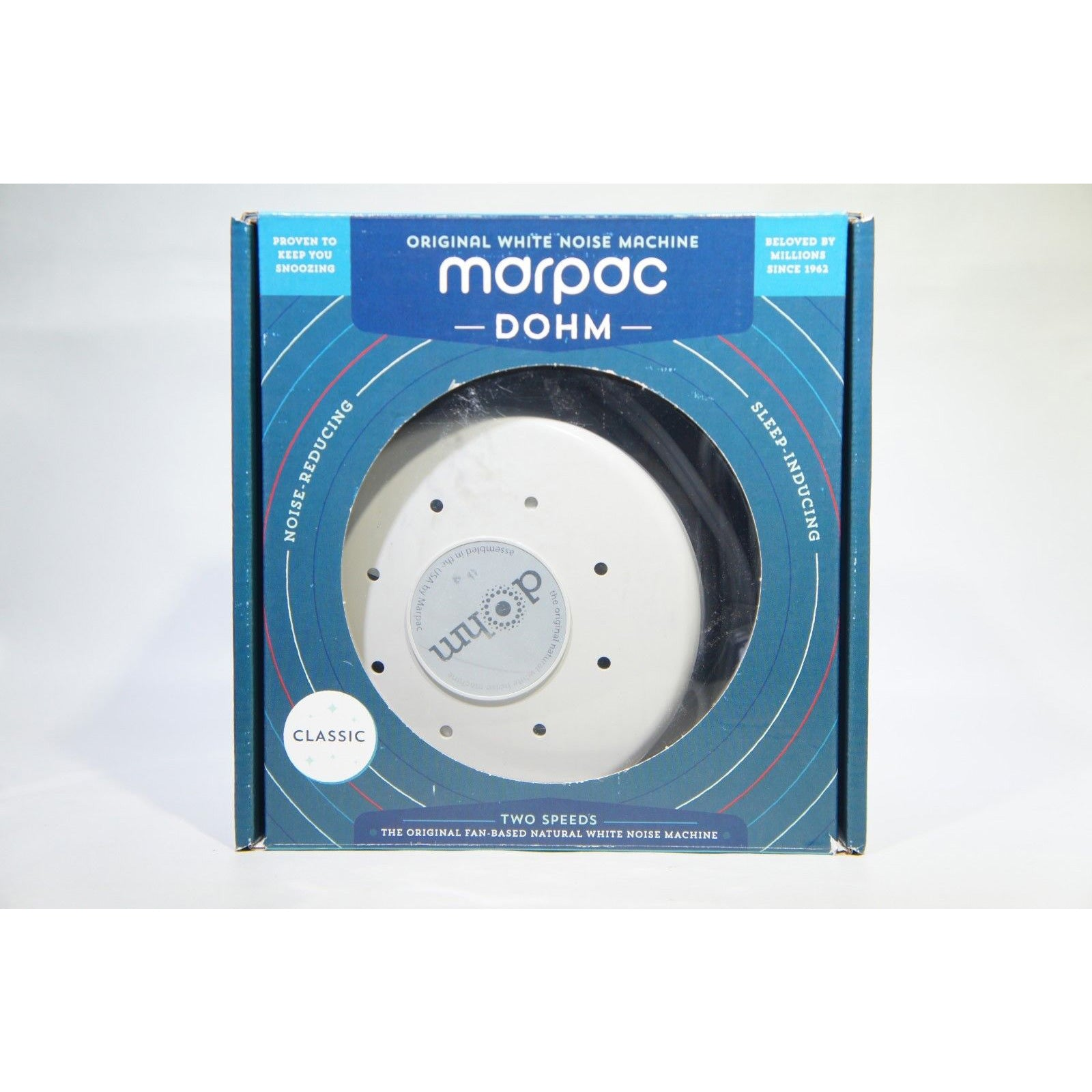 Marpac Dohm Classic White Noise Sound Machine, GRAY, 2 Speeds