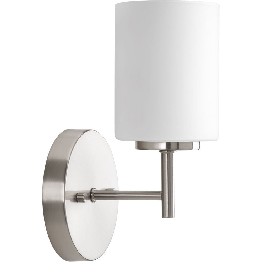 Progress Lighting P2131-09 Contemporary/Soft 1-100W Med Bath Bracket, Brushed Nickel (Used - Like New)