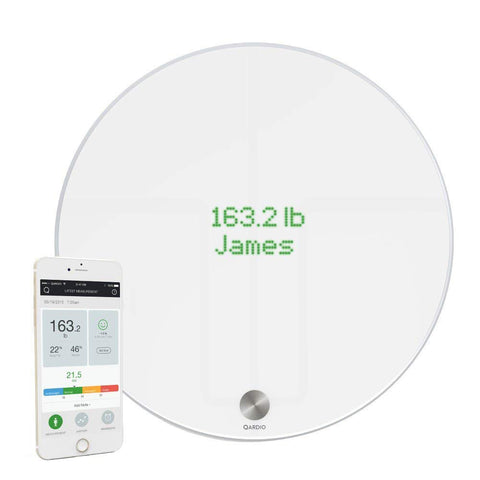 QardioBase B100-IOW Smart Digital Bathroom Scale Qardio Fitness BMI (Like New)
