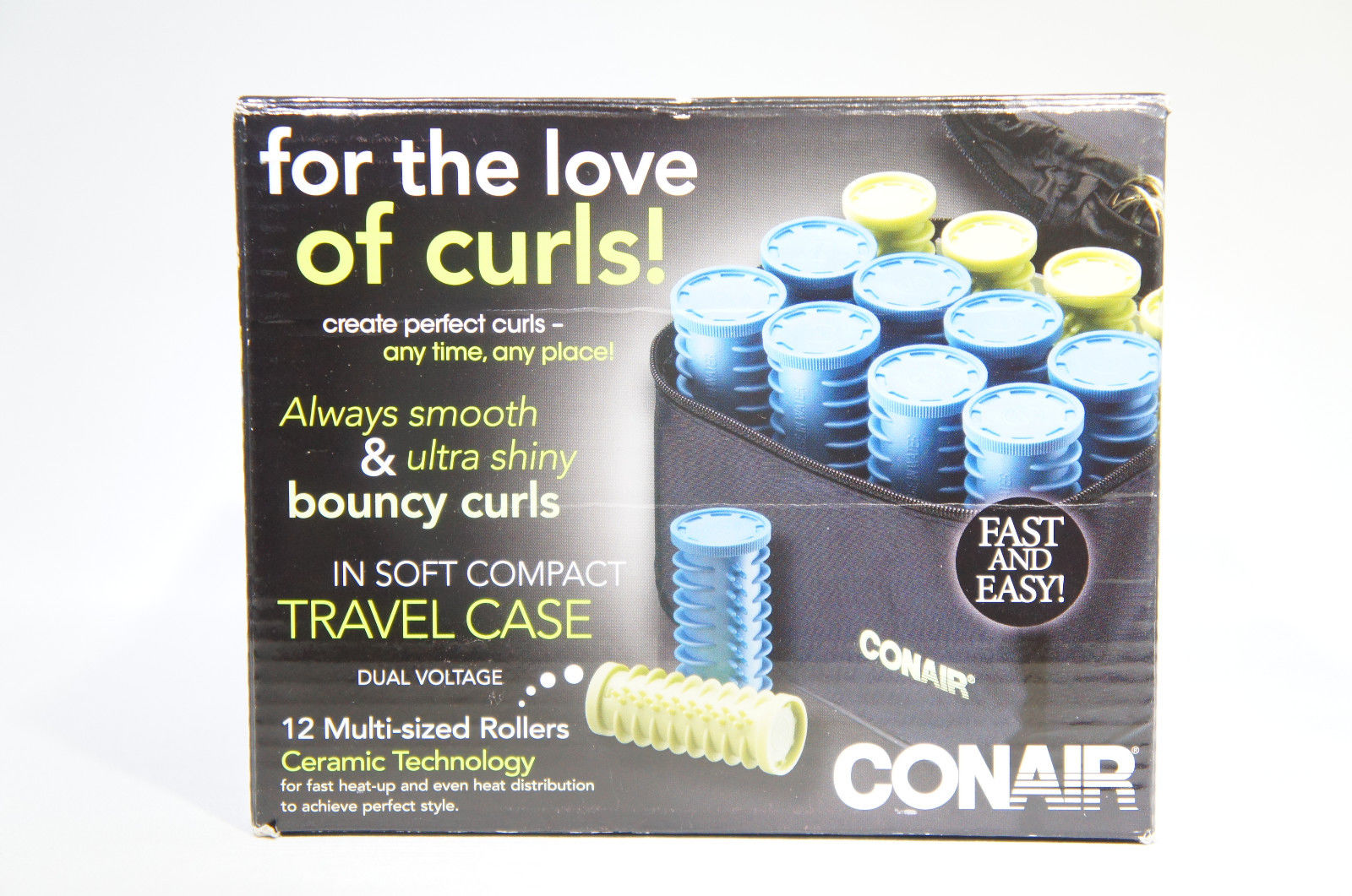 CONAIR HS28XR Instant Heat Compact Hot Rollers Hairsetter Ceramic Travel (Like New)