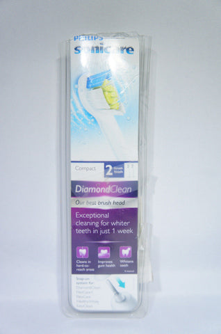 Philips Sonicare Diamond HX6072 COMPACT Replacement Brushhead 2pk