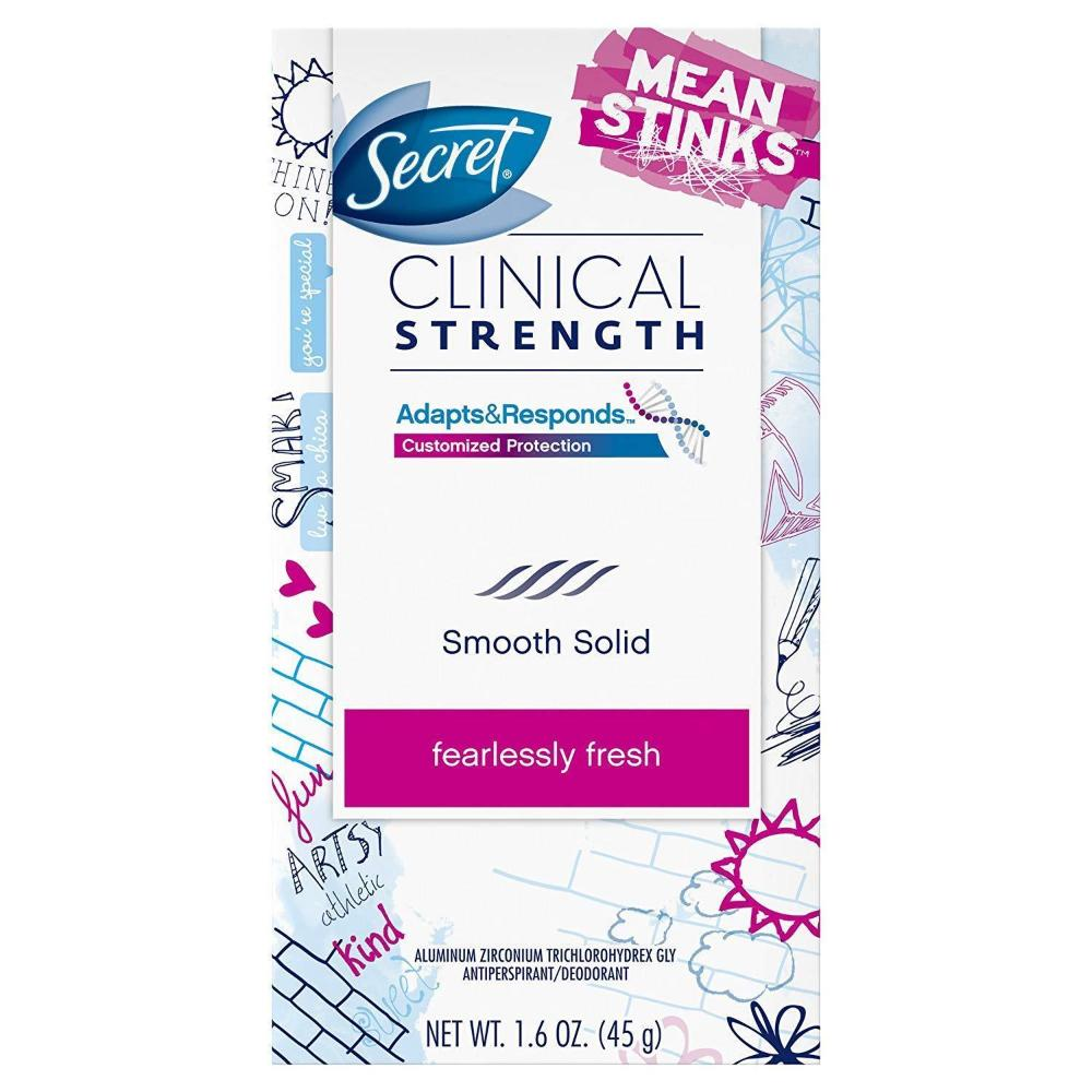Secret Antiperspirant and Deodorant Women Fearlessly Fresh Mean Stinks 1.6 oz