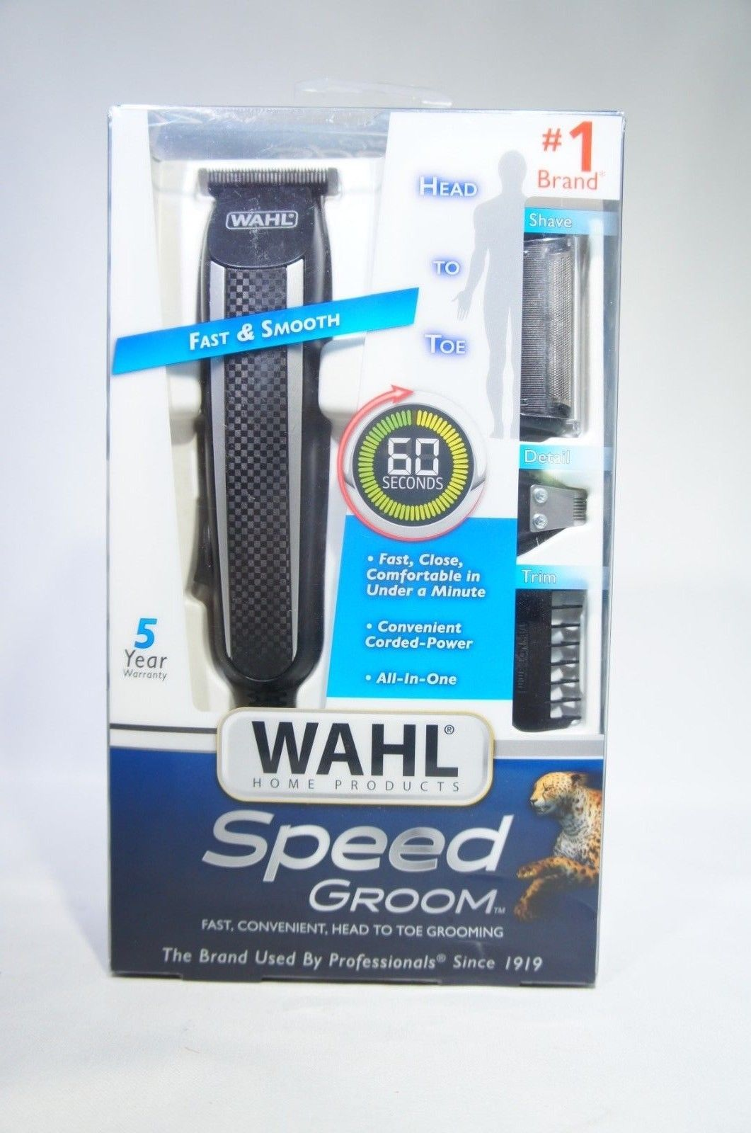 Wahl 9673 Speed Groom Corded Trimmer (Like New)