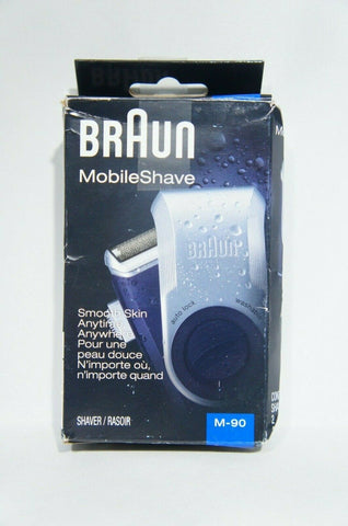 Braun MobileShave M-90 Mens Portable Electric Foil Shaver Travel (Like New)
