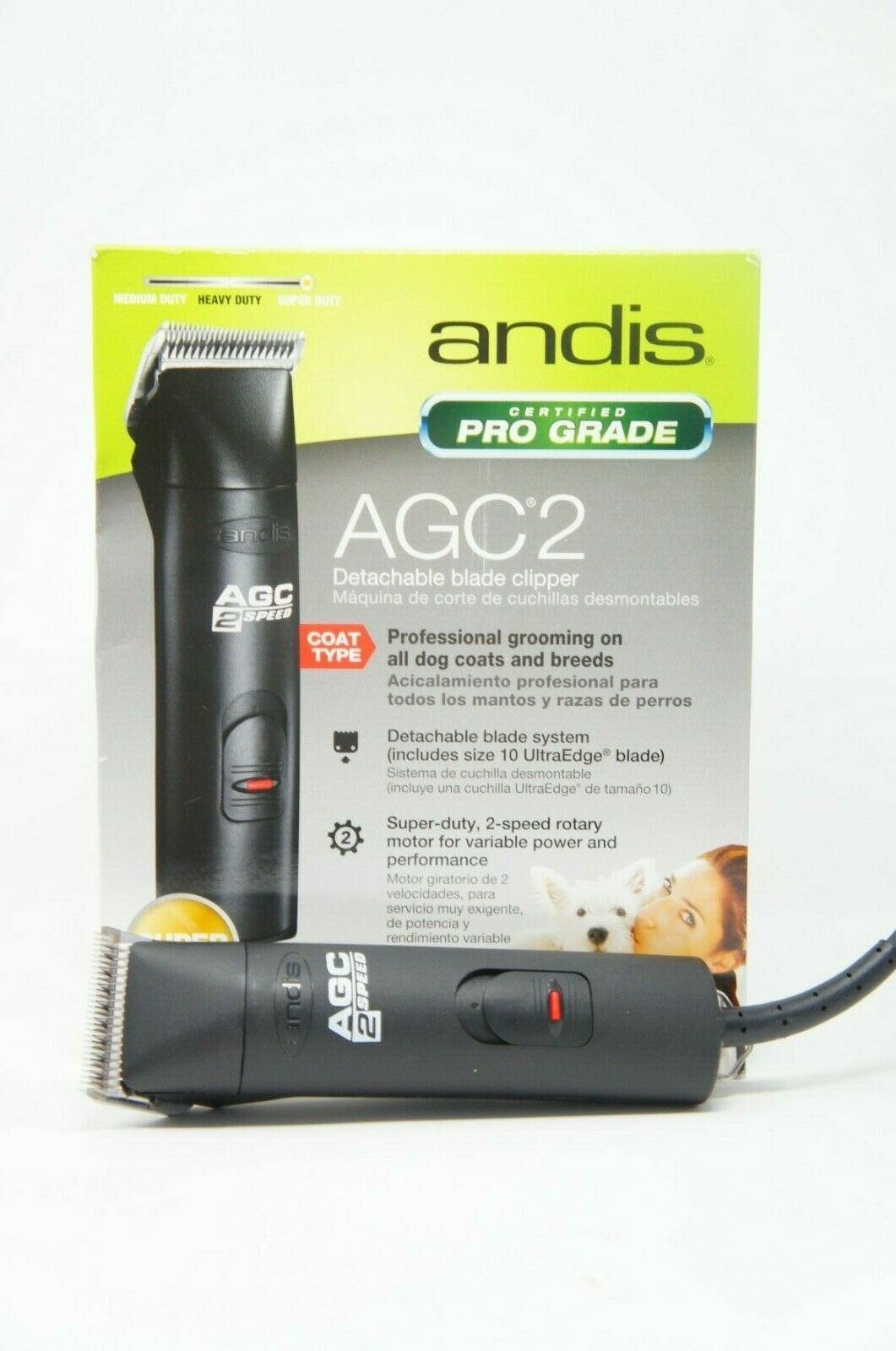 Andis 22340 ProClip AGC2 Professional Grade Clipper AGC Dog Fur Trimmer