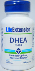Life Extension DHEA Promotes Optimal Hormone Balance 15 mg, 100 Capsules