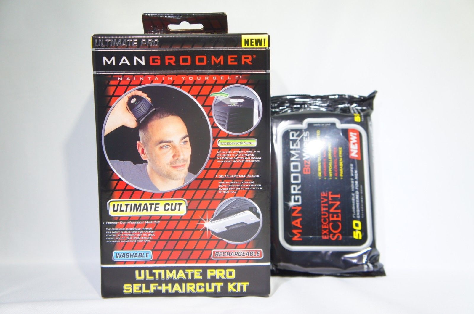 MANGROOMER 1999-6 ULTIMATE PRO Self-Haircut Kit with LITHIUM MAX/ WIPES