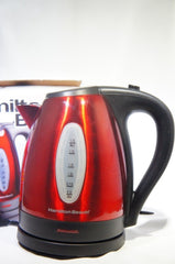 Hamilton Beach 40885 Electric Kettle, For Tea & Coffee, 1.7 Liter RED (Like New)