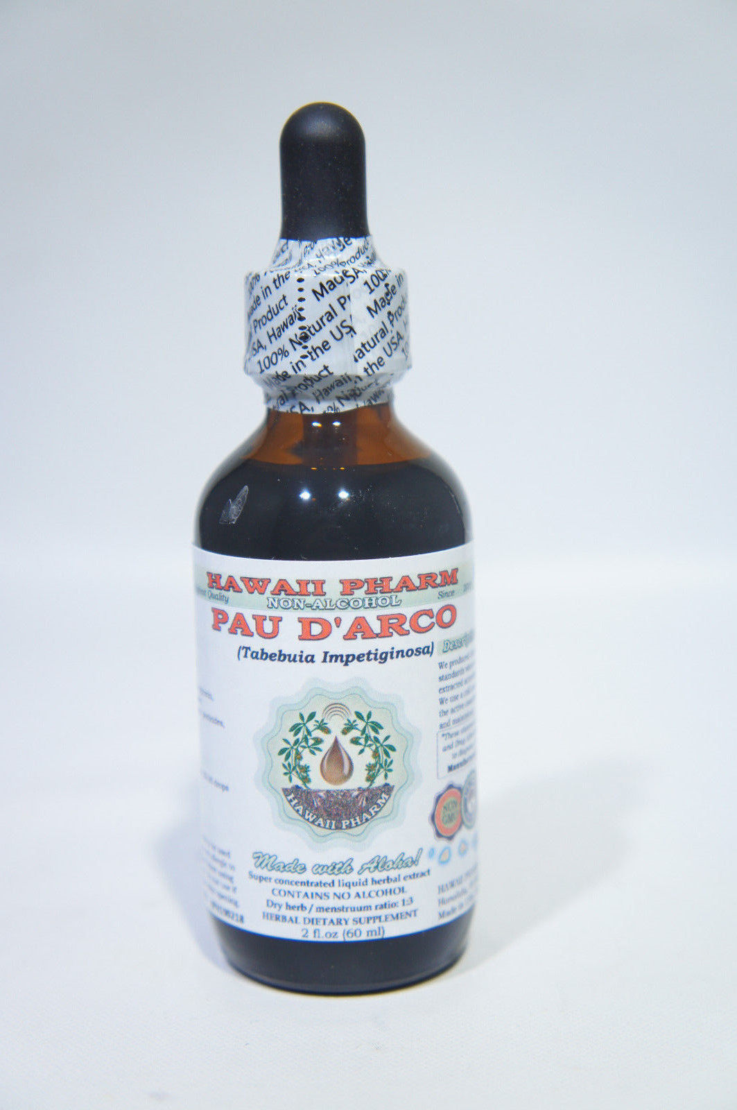 Pau d'arco Alcohol-FREE Liquid Extract, Pau d'arco Liquid 2 oz. EXP: 2/6/23