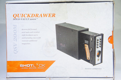 ShotLock QuickDrawer 200M Solo-Vault, Large S-QSV200M Gun Safe (Like New)