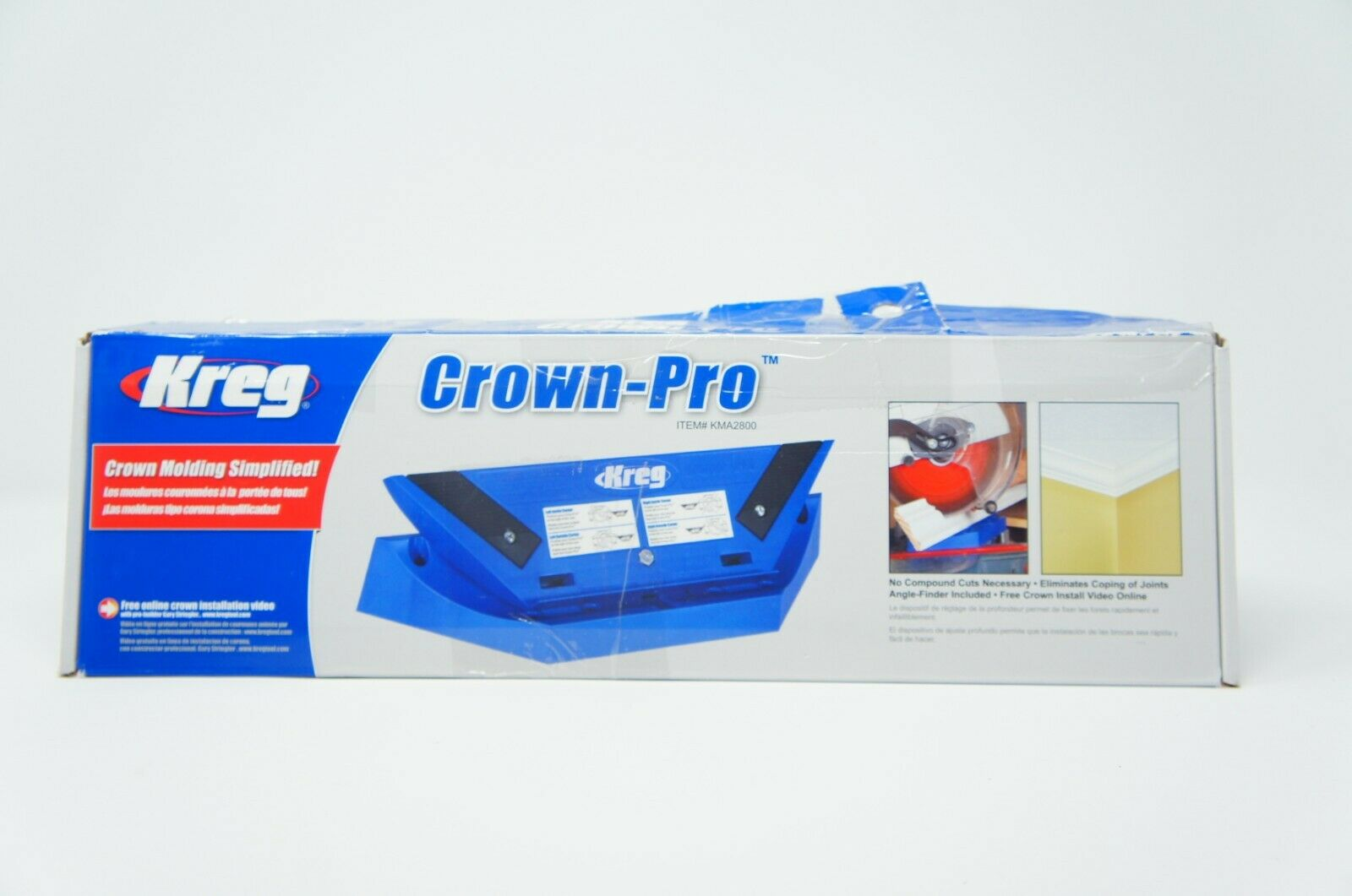 Kreg KMA2800 5-1/2-Inch Crown-Pro Crown Molding Tool BOX DAMAGED (Like New)