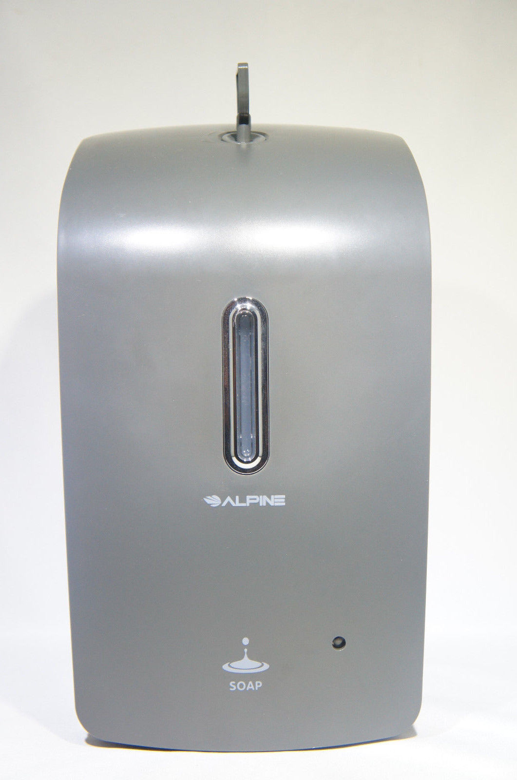 Alpine Wall Mountable, Touchless, Universal Foam Soap Dispenser for Offices, Schools, Warehouses, Food Service Facilities, and Manufacturing Plants, Battery Powered (Gray) (Like New)