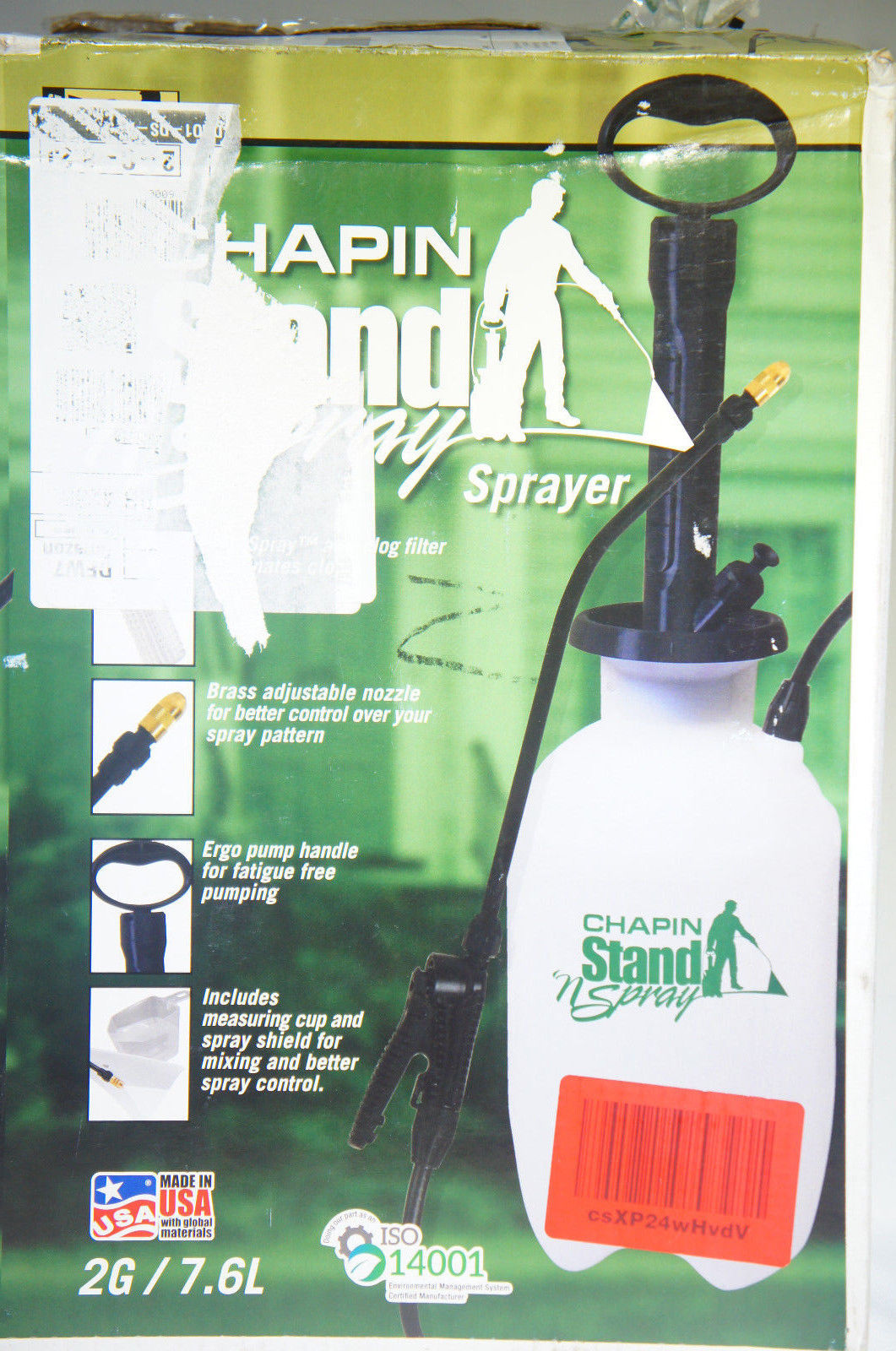 Chapin 29002 2 Gallon Stand 'N Spray No Bend Sprayer For Multi-purpose Use (Like New)