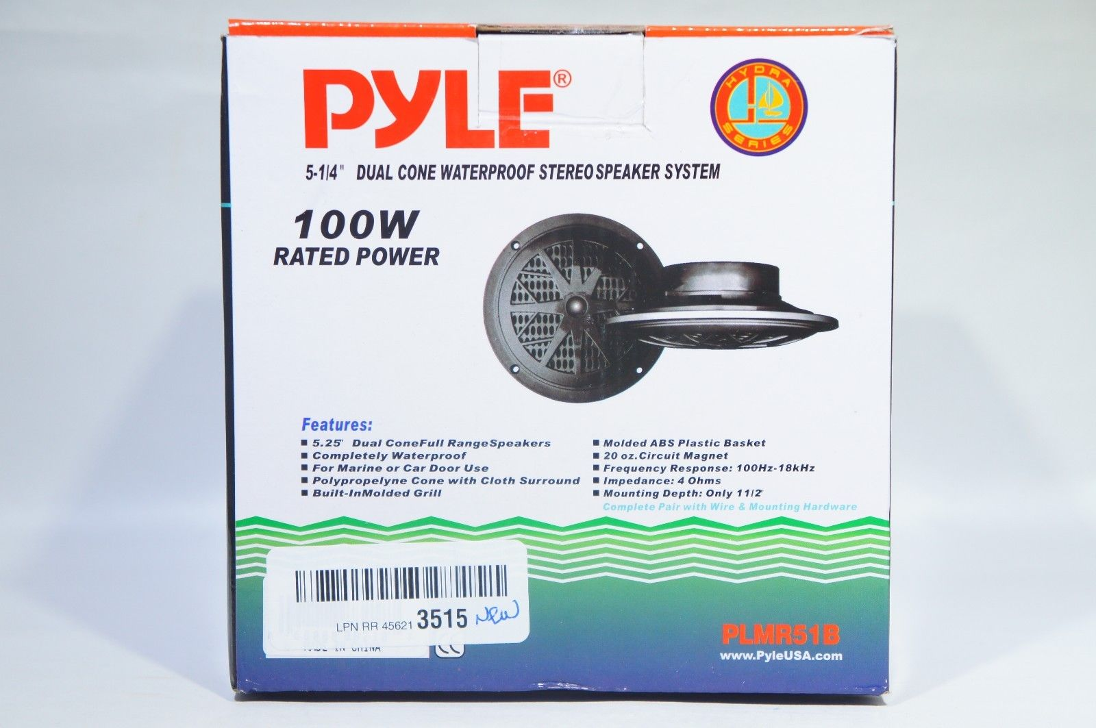 "Pyle PLMR51B Hydra Series 100-Watt 5.25"" 2-Way Marine Speakers-Black"